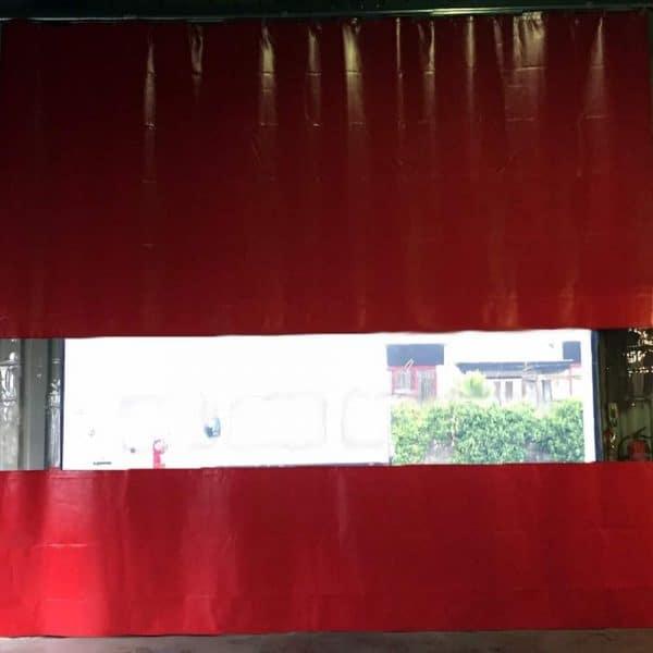 Industriegordijn Rood Combo op maat