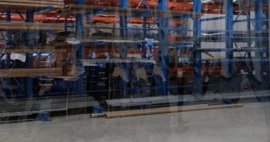 Industriegordijn Transparant op maat