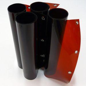 Laslamellen Brons 200 x 180 cm (bxh) 4 Lamellen 57 cm x 1 mm