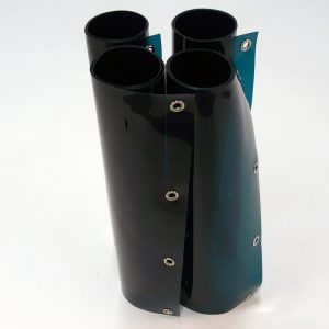 Laslamellen Groen 200 x 200 cm (bxh) 4 Lamellen 57 cm x 1 mm