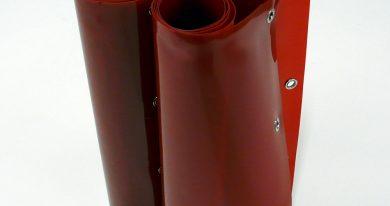 Laslamellen Rood 200 x 160 cm (bxh) 4 Lamellen 57 cm x 1 mm