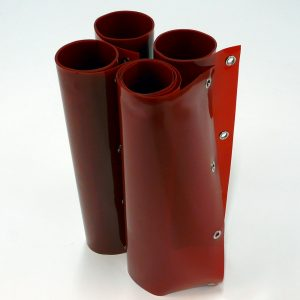 Laslamellen Rood 200 x 200 cm (bxh) 4 Lamellen 57 cm x 1 mm