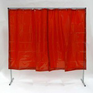 Lasscherm Gordijn Rood 200 x 200 cm x 0.4 mm