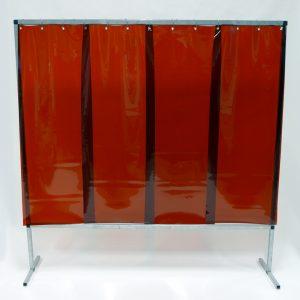 Lasscherm Lamellen 570 x 1 mm Brons 200 x 200 cm