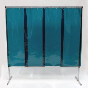 Lasscherm Lamellen 570 x 1 mm groen 200 x 200 cm
