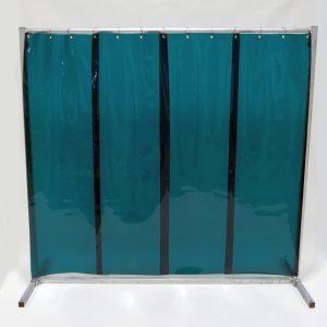 Lasscherm Lamellen 570 x 1 mm groen 210 x 200 cm