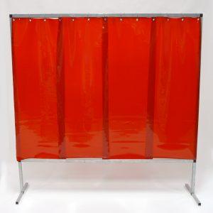Lasscherm Lamellen 570 x 1 mm Rood 200 x 200 cm