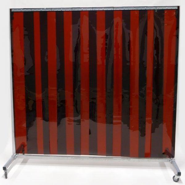 Lasscherm Verrijdbaar Lamellen 300 x 2 mm Brons 210 x 200 cm