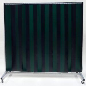 Lasscherm Verrijdbaar Lamellen 300 x 2 mm Groen 210 x 200 cm
