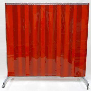 Lasscherm Verrijdbaar Lamellen 300 x 2 mm Rood 210 x 200 cm