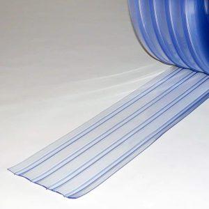 PVC Stroken Gordijn per meter Dubbel Geribbeld 200 x 2 mm