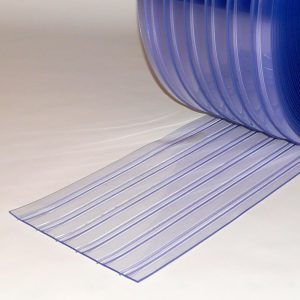 PVC Stroken Gordijn per meter Dubbel Geribbeld 300 x 3 mm