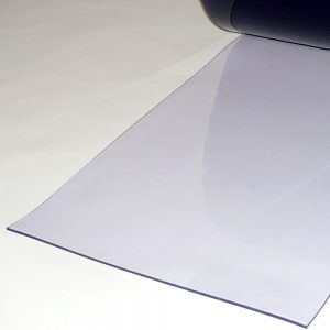 PVC Stroken per meter Transparant 400 x 4 mm