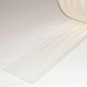 PVC Stroken Gordijn per meter Vriescel Geribbeld 200 x 2 mm