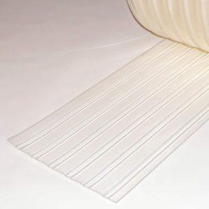 PVC Stroken Gordijn per meter Vriescel Geribbeld 300 x 3 mm