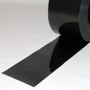 PVC Stroken per meter Zwart 200 x 2 mm