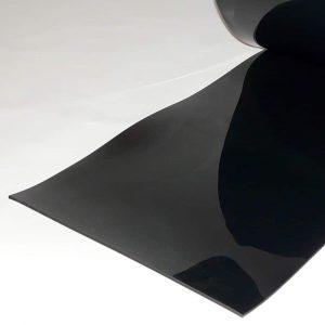 PVC Stroken per meter Zwart 400 x 4 mm