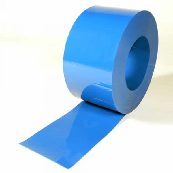 PVC Stroken Gordijn Blauw op rol 50 m x 200 x 2 mm