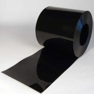 PVC Strook op rol Zwart 50 m x 400 x 4 mm