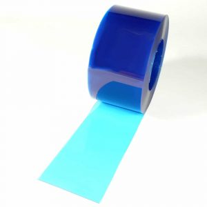 PVC Strook op rol Blauw Transparant 50 m x 200 x 2 mm