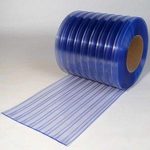 PVC Stroken Gordijn op rol Dubbel Geribbeld 50 m x 400 x 4 mm