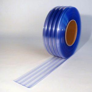 PVC Stroken Gordijn op rol Dubbel Geribbeld 50 m x 200 x 2 mm