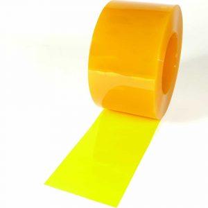 PVC Stroken Gordijn Geel Transparant op rol 50m x 200 x 2mm