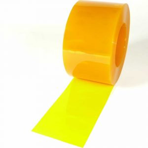 PVC Strook op rol Geel Transparant 50 m x 200 x 2 mm