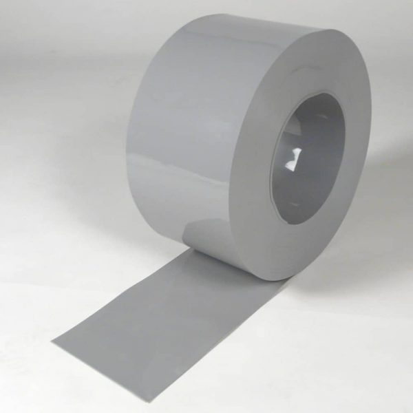 PVC Stroken Gordijn Grijs op rol 50 m x 200 x 2 mm