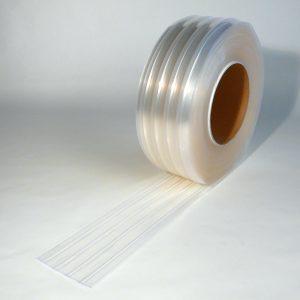 PVC Stroken Gordijn op rol Vriescel Geribbeld 50 m x 200 x 2 mm