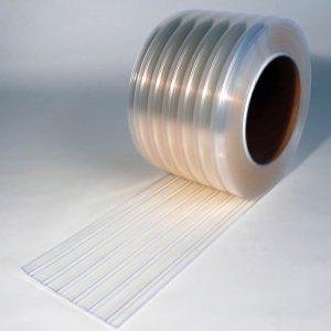 PVC Stroken Gordijn op rol Vriescel Geribbeld 50 m x 300 x 3 mm