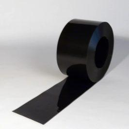 PVC Stroken Gordijn Zwart op rol 50m x 200 x 2mm
