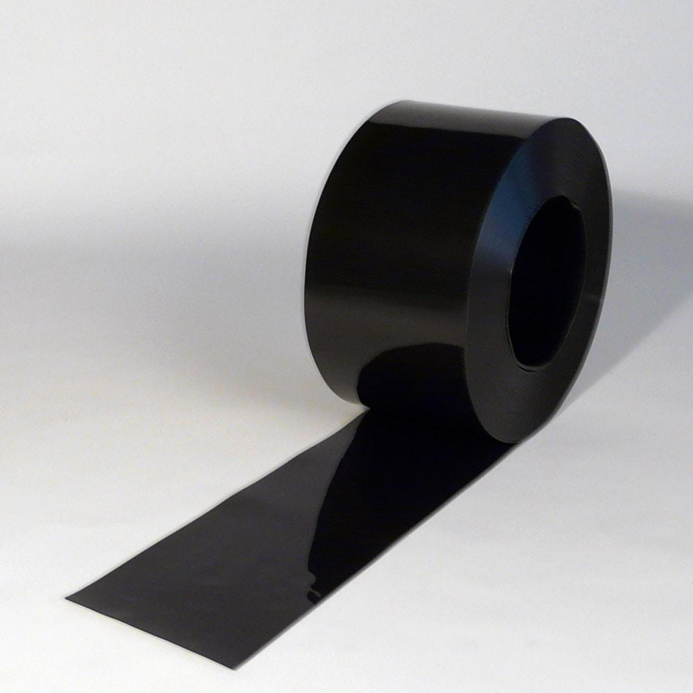 PVC Strook op rol Zwart 50 m x 200 x 2 mm