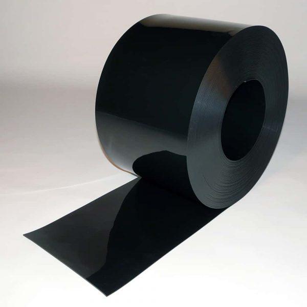 PVC Stroken Gordijn Zwart op rol 50m x 300 x 3mm