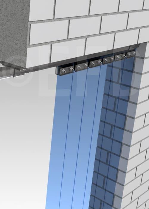 PVC strokengordijn verschuifbaar rails ophangsysteem plafond