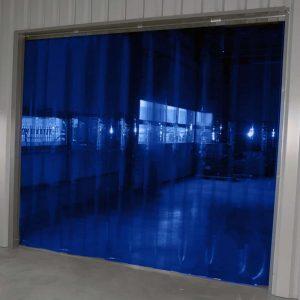 Strokengordijn Blauw Transparant op maat