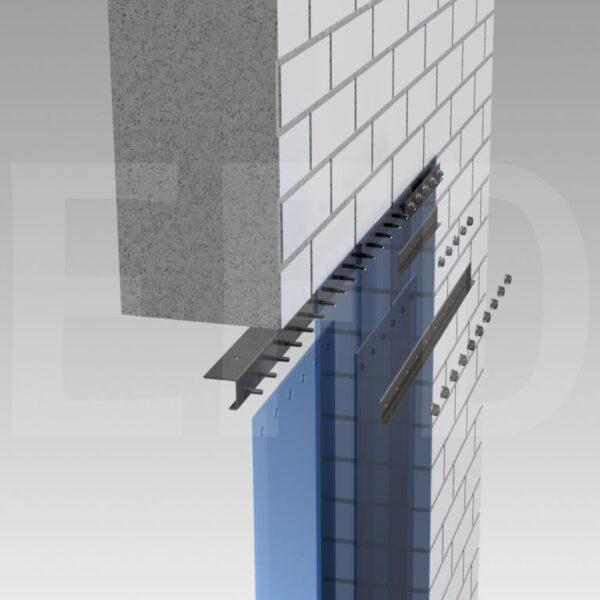 Strokengordijn-STD-Verzinkt-Staal-Plafondmontage