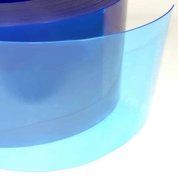 pvc stroken blauw transparant detail