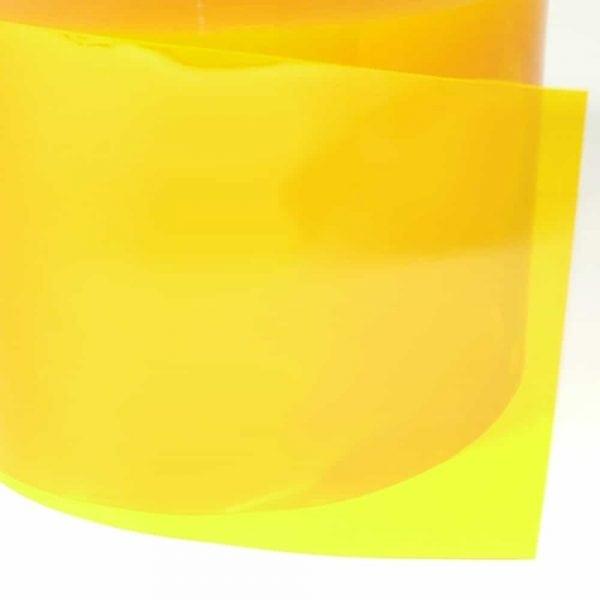 pvc stroken geel transparant detail