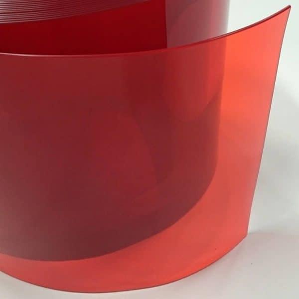 pvc stroken rood transparant detail