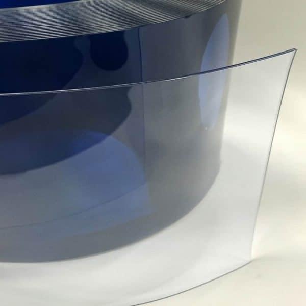 PVC gordijnstroken transparant detail
