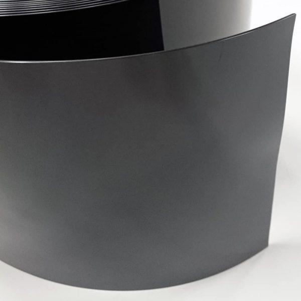 PVC gordijnstroken zwart detail
